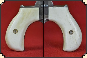 Colt Lightning & Thunderer Grips ~ Hand made Bone two piece Grips RJT#5529