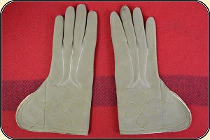 Rare Antique Finest of the fine Plymouth Buckskin Gloves