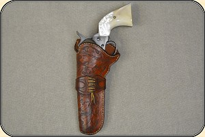 z Sold Holster - Crafter made left hand holster for Colt Single Action 4 3/4 or 5 1/2 inch barrel