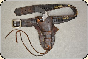 z Sold Bunkhouse made .44 cartridge money belt and holster