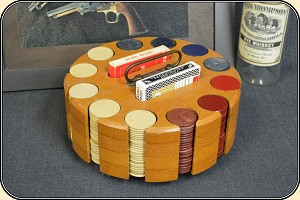 z Sold Large, gambling hall poker chip rack.