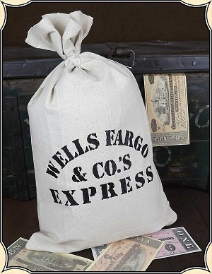 Wells Fargo Money Bag - Five Pack