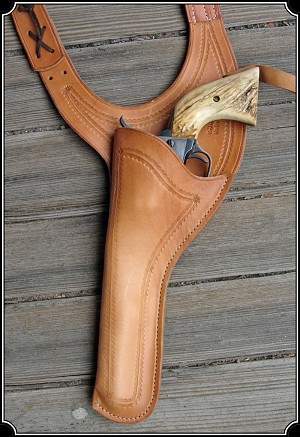 Holster - Improved 7.5 Texas Shoulder Holster Copied from original in the River Junction Collection