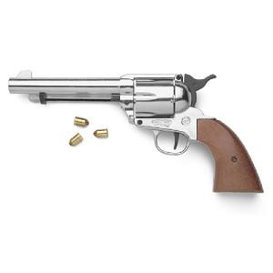 Blank firing revolver - 9mm - nickel