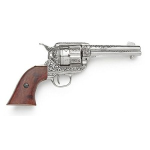 Non- firing pistol - M1873 Fast draw nickle engraved finish.