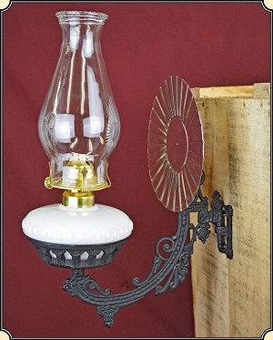 Wall Mounted Electric Lamps : Wall-mount Old West Lamp Electric or Kerosene