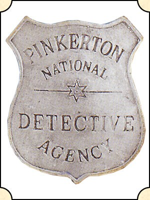 Badge - Pinkerton National Detective - Shield