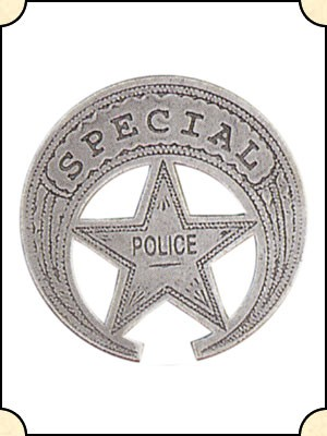 Badge - Special Police - Crescent Pierced Star