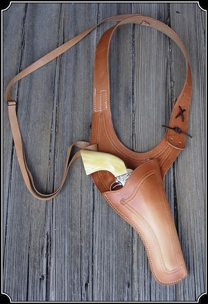 Holster - Improved Texas Shoulder Holster Copied from original in the River Junction Collection