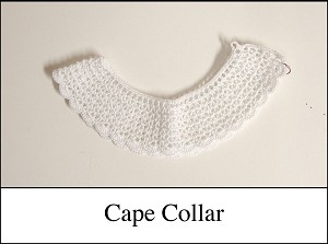 Collar - Crocheted Collar - Cape