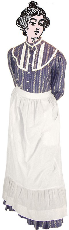 Apron - Ruffled Apron - Heirloom Brand