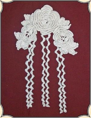 Hand-crocheted Victorian Hair Flower