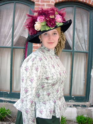 Ladies Hat - Large Victorian Touring Hat in a Variety of Colors