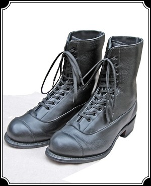 Shoes - Ladies Hi-Top Riding Shoe - Leather