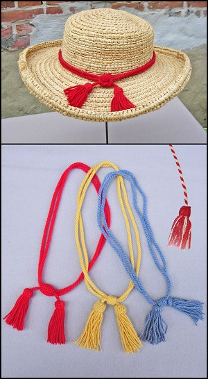 Men's Hat - Civil war and Indian Military Hat Cords