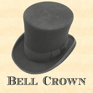 "Men's Hat - Bell Crown - 6"" crown 2 1/2"" Brim"