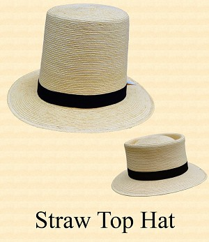 Men's Hat - Straw Top Hat