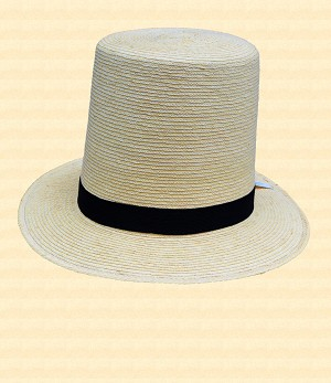 Straw Top Hat - Hat Style