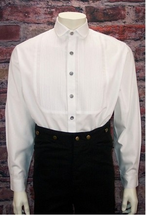 Gents Pleated front shirt