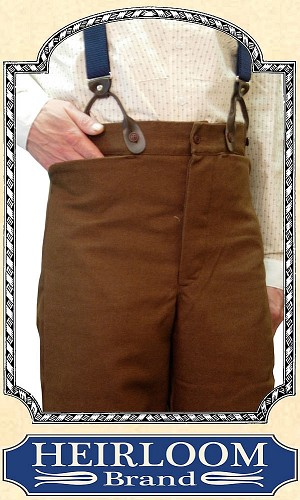 Trousers - Last of the Material ~ Suspender Trousers - Cotton