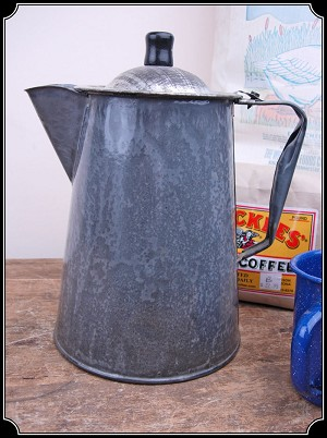 Cowboy's Grey Enamel Coffee Pot