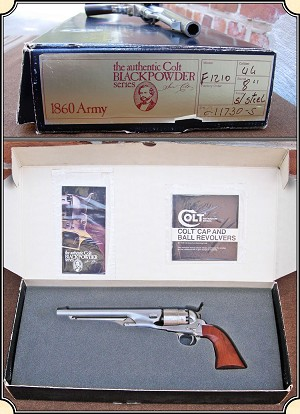 z Sold ~ Colt 2nd Generation 1860 Army Stainless Steel Model F-1210