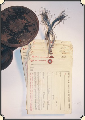 Original Railway Express Agency Shipping Tag.