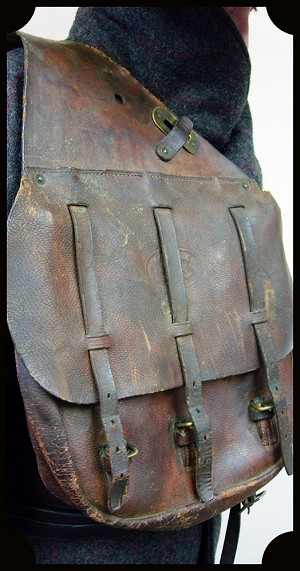 Z Sold Vintage Antique 1917 Us Cavalry Leather Saddlebags